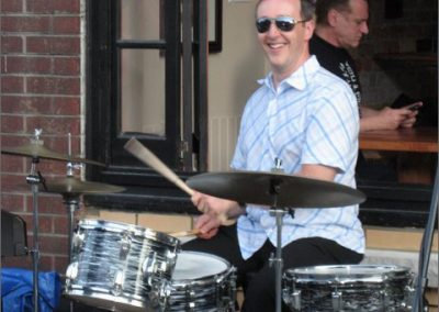 Keith Farrar - drummer extroadinaire - master of all styles, founding member of Go Freddie Go