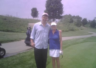 Paul with Beverly Thomson of Canada A.M. rockin' and golfin' at Royal Woodbine Golf Course