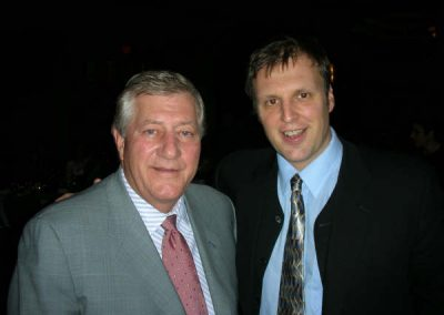 Paul with Mike Harris