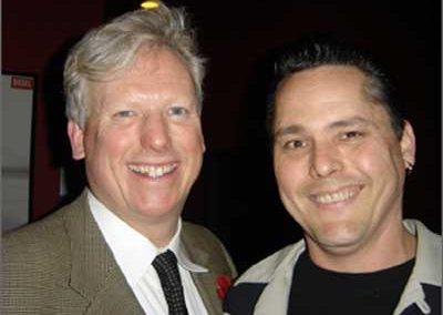 Skeets with rockin' mayor David Miller
