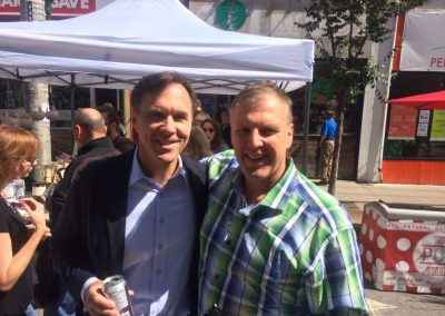 Paul with Finance Minister Bill Morneau at the Cabbagetown Street Festival