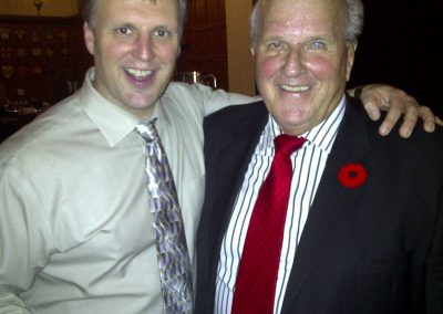 Paul with TV Hockey analyst and agent Bill Waters, both alumni of University of Toronto Varsity Blues Football, and North Toronto Collegiate.